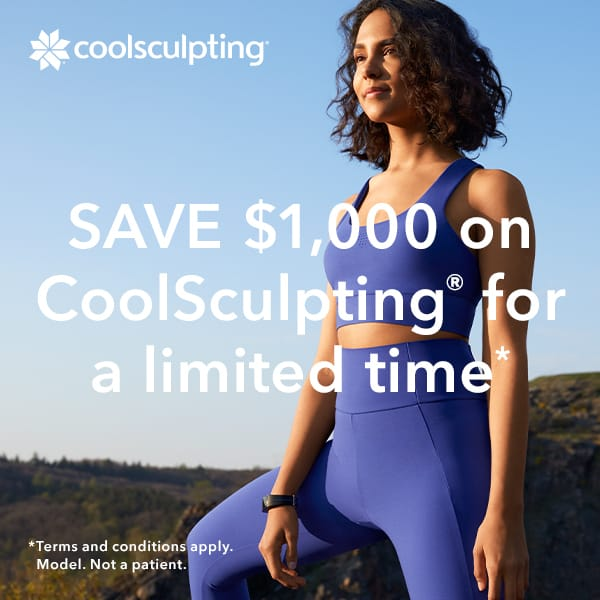 Save $1,000 on CoolSculpting for a limited time