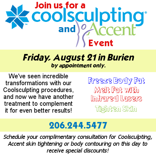 Coolsculpting, Body Contouring and Skin Tightening Event!